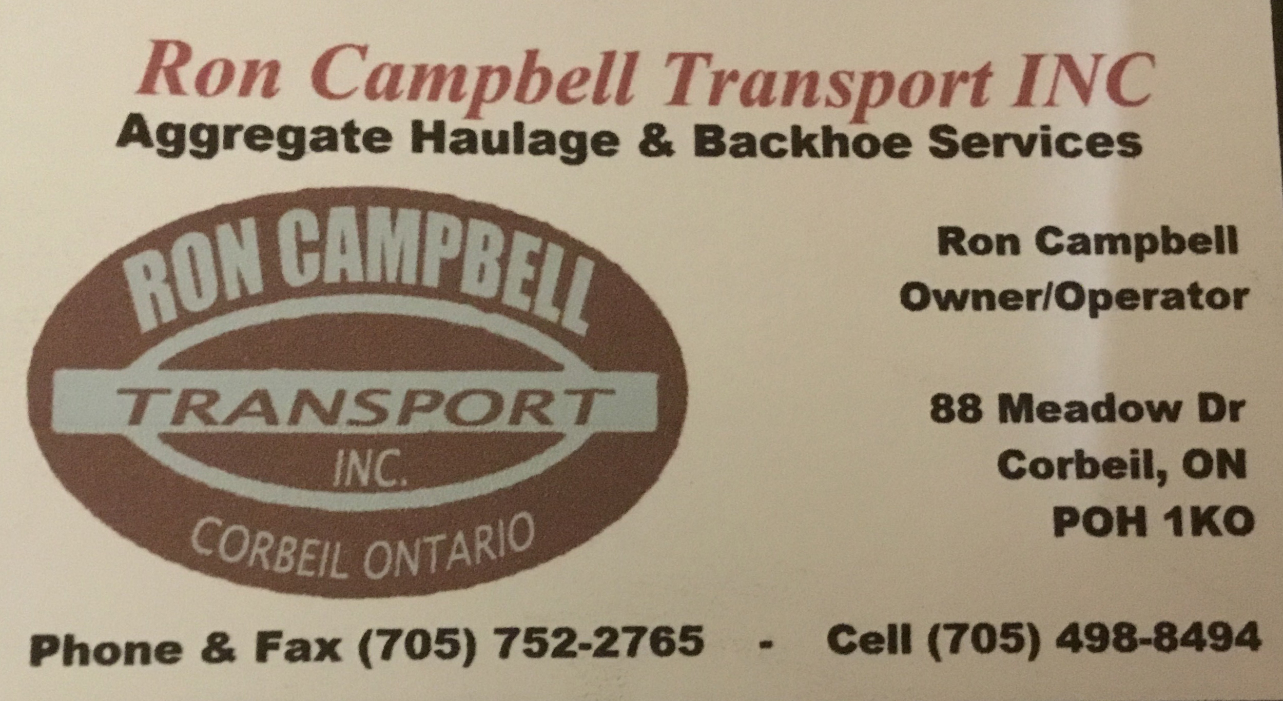 Ron Campbell Transport Inc.